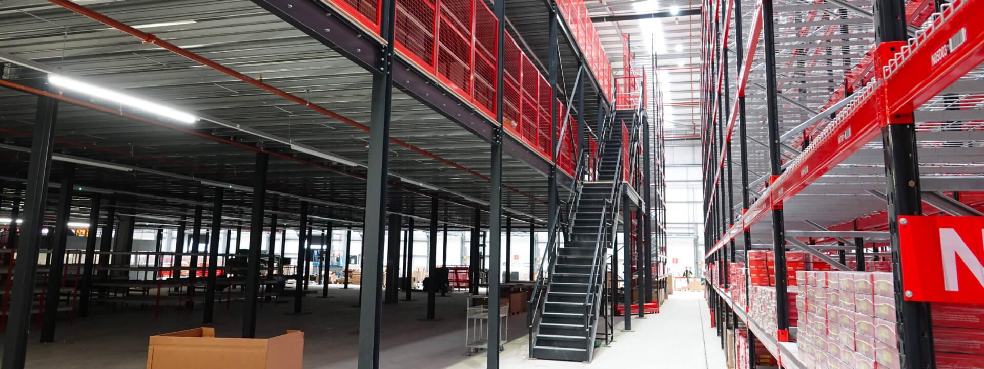 Mezzanine Flooring With Stairs