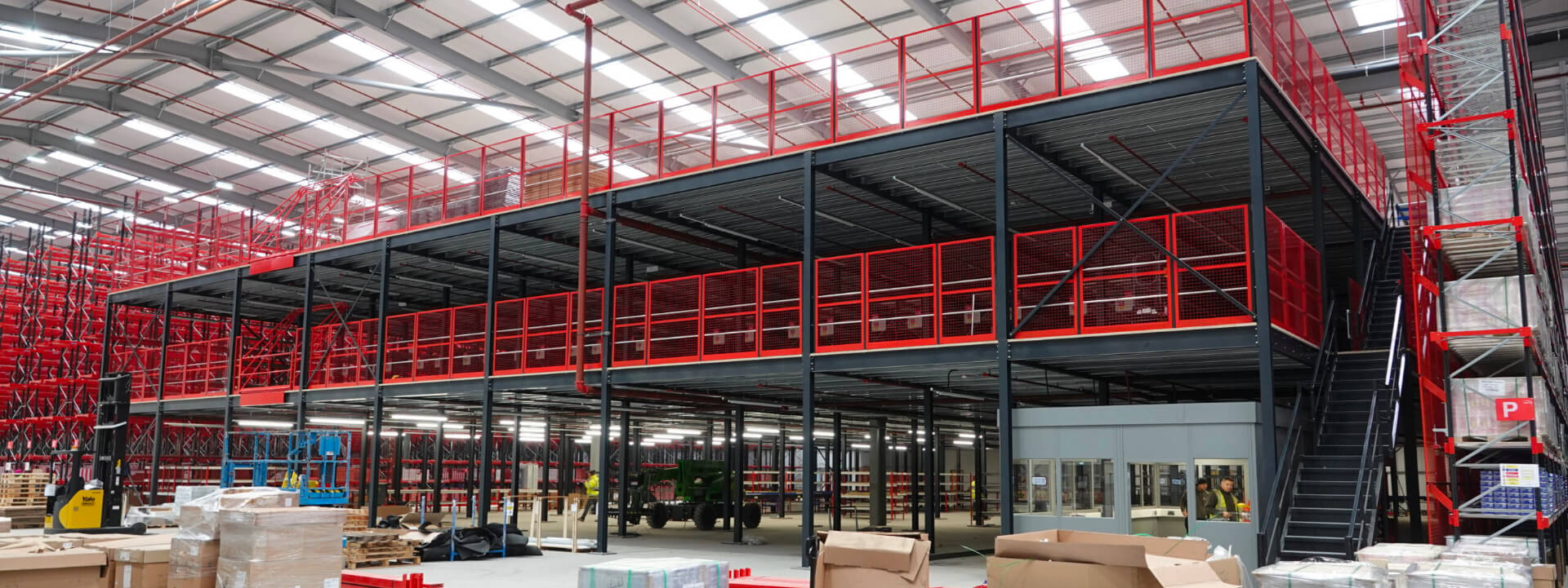 Mezzanine Flooring in a warehouse